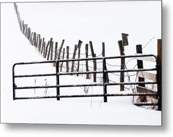 Snowfield Entry - Metal Print