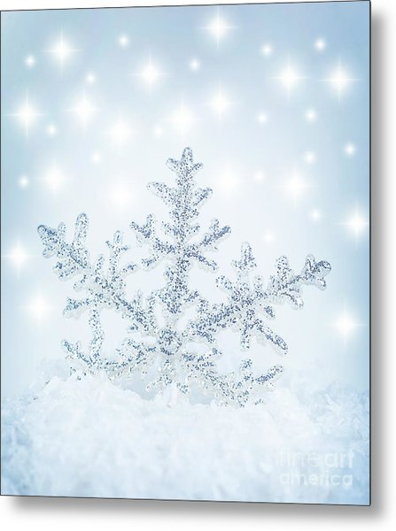 Snowflake Background Metal Print
