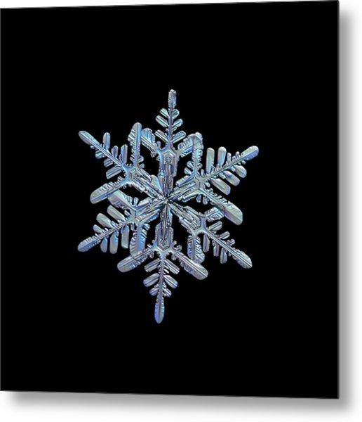 Snowflake Macro Photo - 13 February 2017 - 1 Black Metal Print
