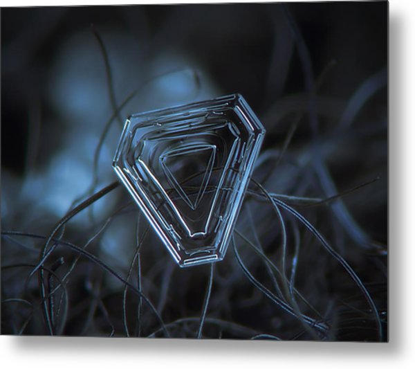 Snowflake Photo - Almost Triangle Metal Print