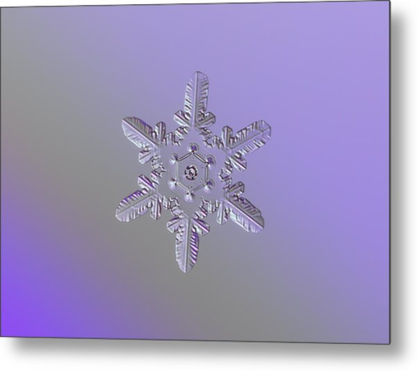 Snowflake Photo - Heart-powered Star Metal Print