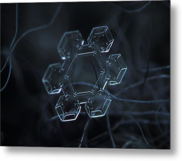 Snowflake Photo - Jewel Metal Print