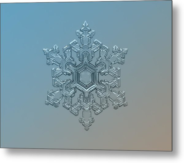 Snowflake Photo - Ornate Pattern Metal Print