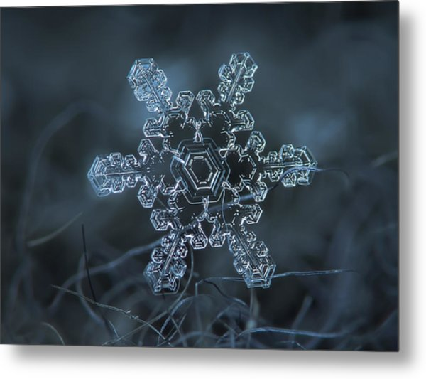 Snowflake Photo - Slight Asymmetry Metal Print