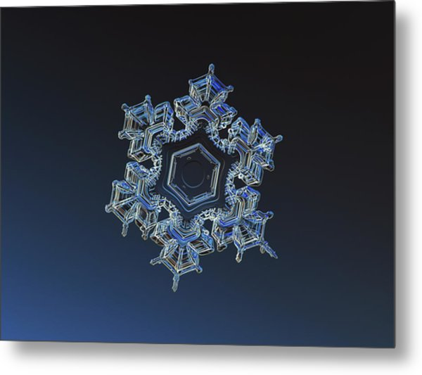 Snowflake Photo - Spark Metal Print