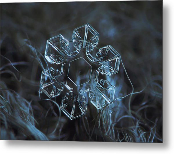 Snowflake Photo - The Core Metal Print
