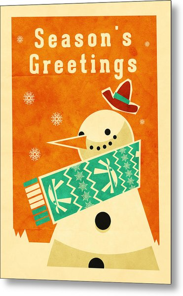 Snowman 2 Metal Print