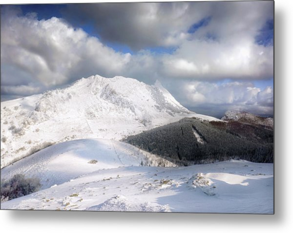 snowy Anboto from Urkiolamendi at winter Metal Print