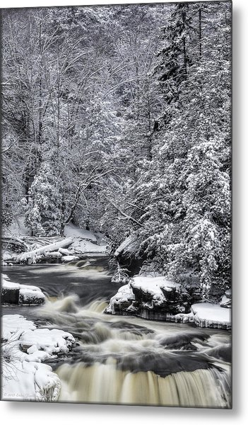 Snowy Blackwater Metal Print