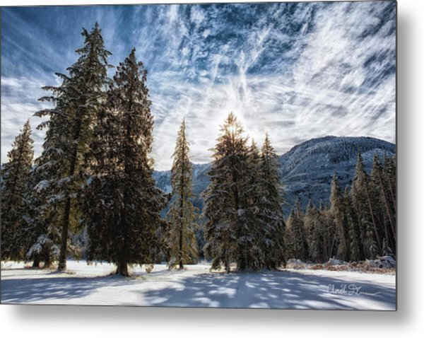 Snowy Clouds Metal Print