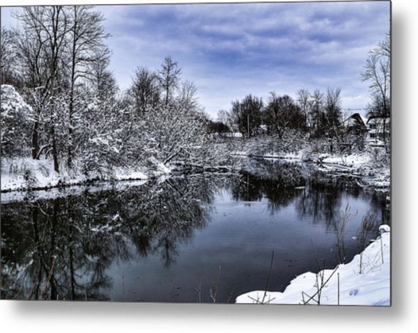 Snowy Ellicott Creek Metal Print