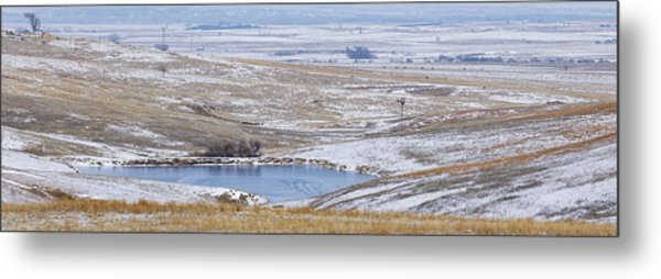 Metal Print featuring the photograph Snowy Hills 2 by Rob Graham