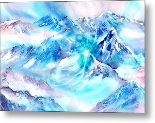 Snowy Mountains Early Morning Metal Print