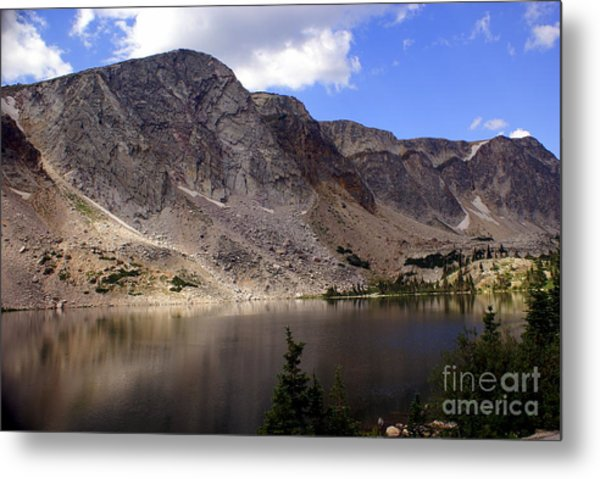 Snowy Mountian Loop 8 Metal Print