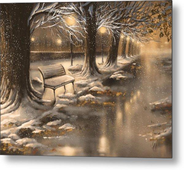 Snowy Night Metal Print