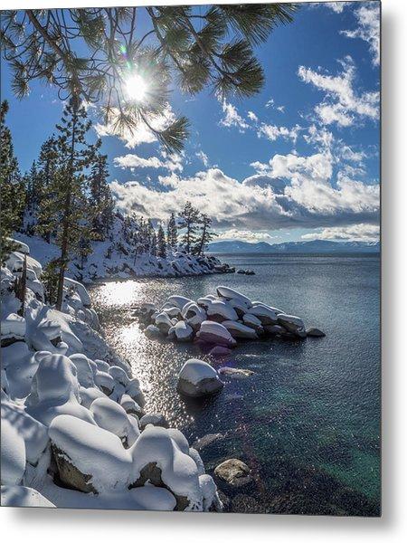 Snowy Tahoe Metal Print