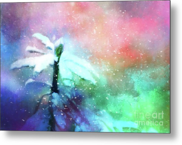 Snowy Winter Abstract Metal Print