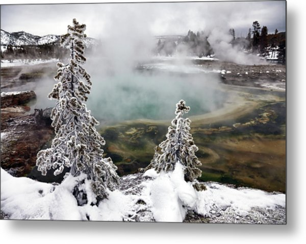 Snowy Yellowstone Metal Print
