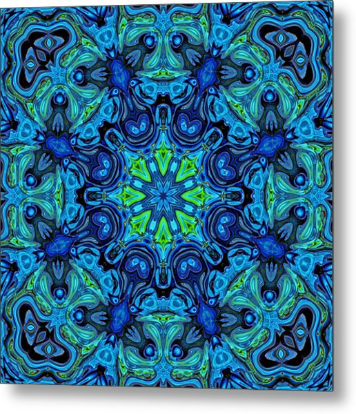 So Blue - 04v2 - Mandala Metal Print