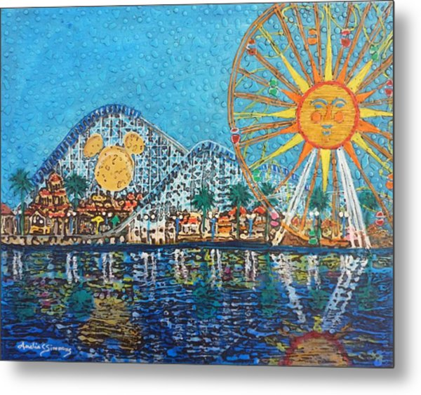 Metal Print featuring the painting So Cal Adventure by Amelie Simmons