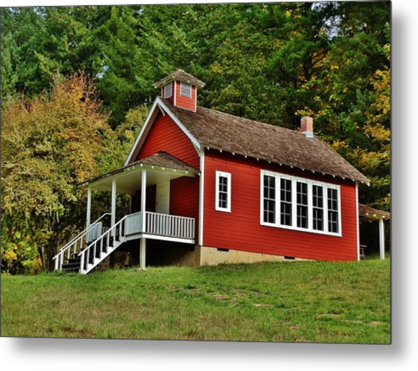 Soap Creek Schoolhouse Metal Print