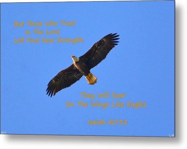 Soar On The Wings Like Eagles Isaiah 40 31  Metal Print
