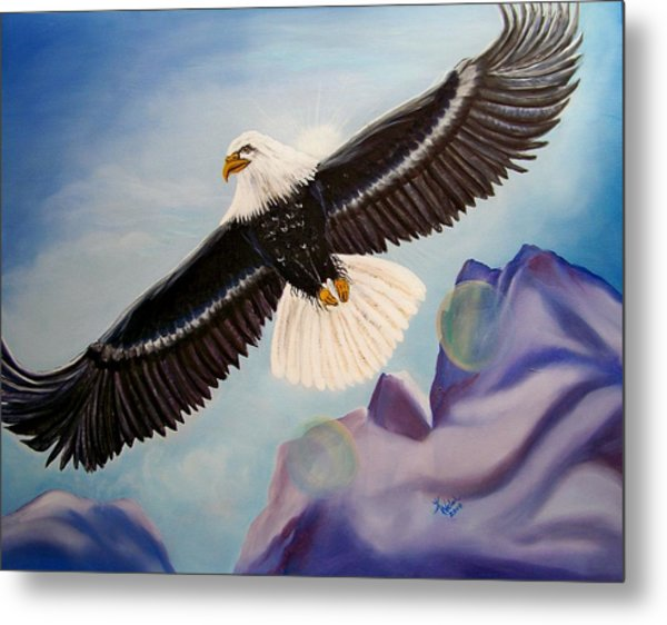 Soaring Eagle Metal Print by Kathern Welsh
