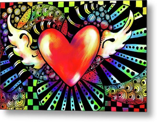 Soaring Heart Coloration Metal Print