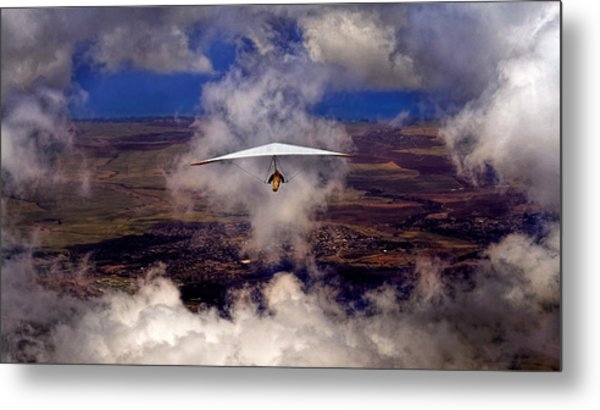 Metal Print featuring the photograph Soaring Through The Clouds by Susan Rissi Tregoning
