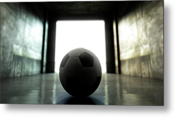Soccer Ball Sports Stadium Tunnel Metal Print