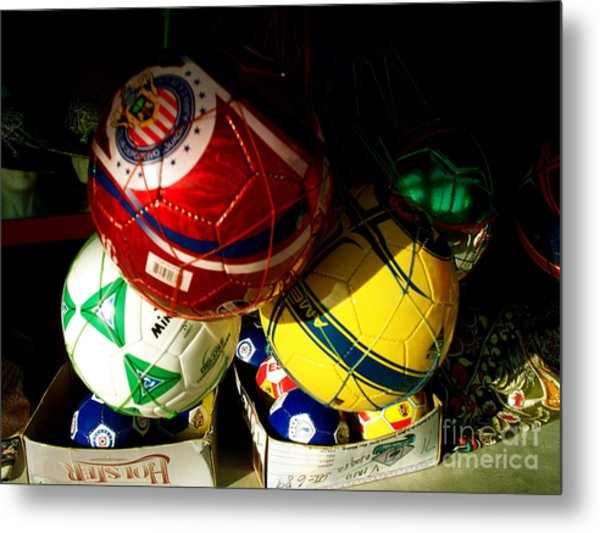 Soccer For Sale Metal Print by Chuck Taylor