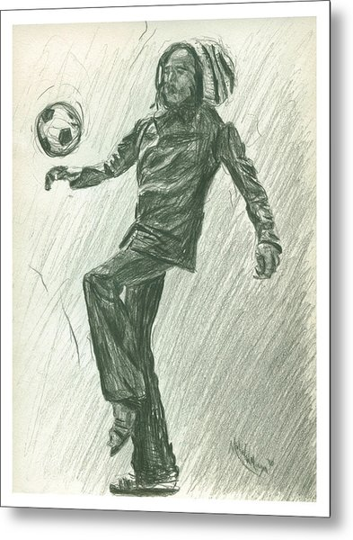 Soccer Time Metal Print
