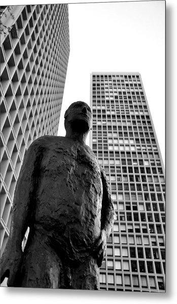 Society Man Metal Print by Andrew Dinh
