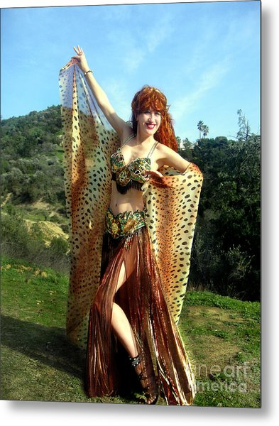 Sofia The Queen Of Leopards. Ameynra Belly Dance Metal Print
