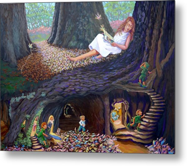 Metal Print featuring the painting Sofie's Dream  by Jeanette Jarmon