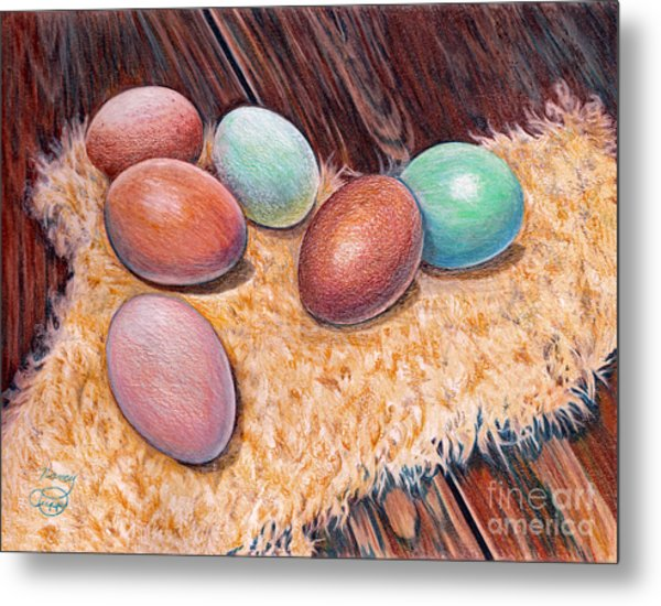 Soft Eggs Metal Print