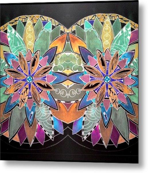 Soft Mandala Metal Print