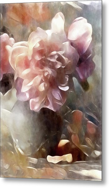 Metal Print featuring the mixed media Soft Pastel Peonies by Susan Maxwell Schmidt