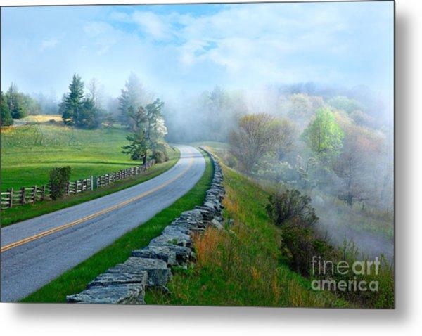Soft Spring Morning On Blue Ridge Parkway I Metal Print