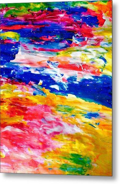 Soft Strokes Aesthetic Sunset Metal Print