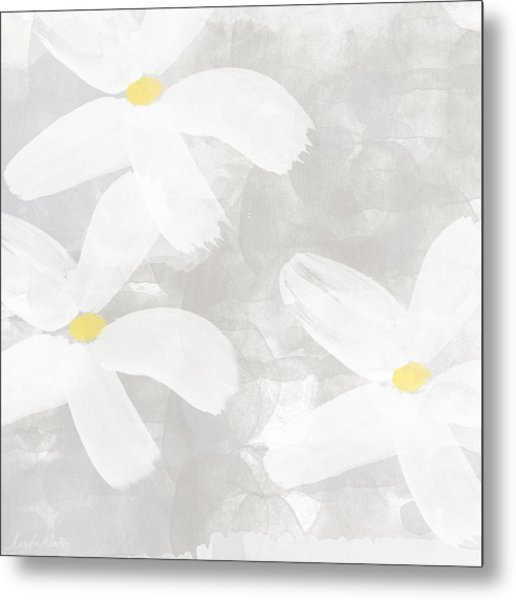 Soft White Flowers Metal Print