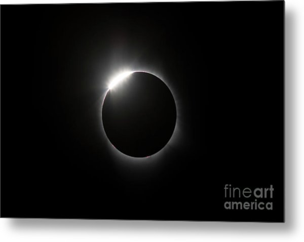 Solar Diamond Ring Metal Print