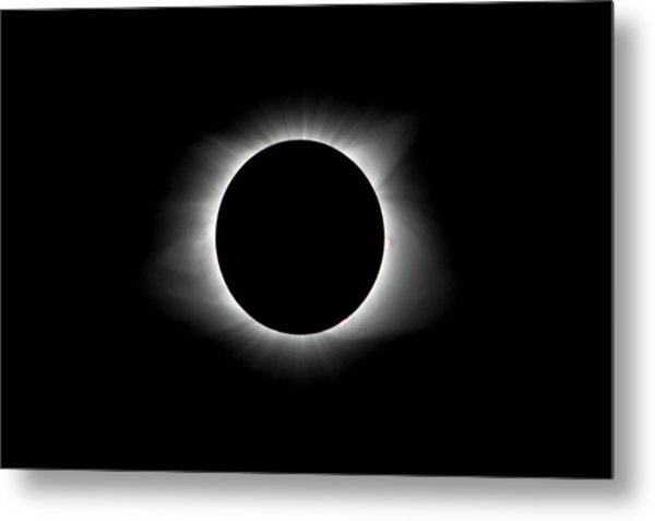 Solar Eclipse Ring Of Fire Metal Print