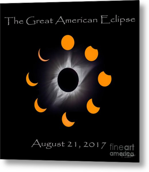 Solar Eclipse Stages Metal Print