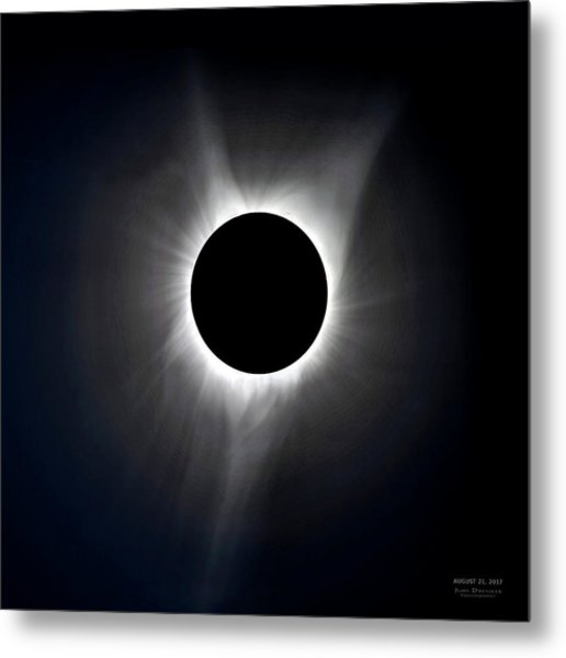 Solar Eclipse Totality Corona Metal Print