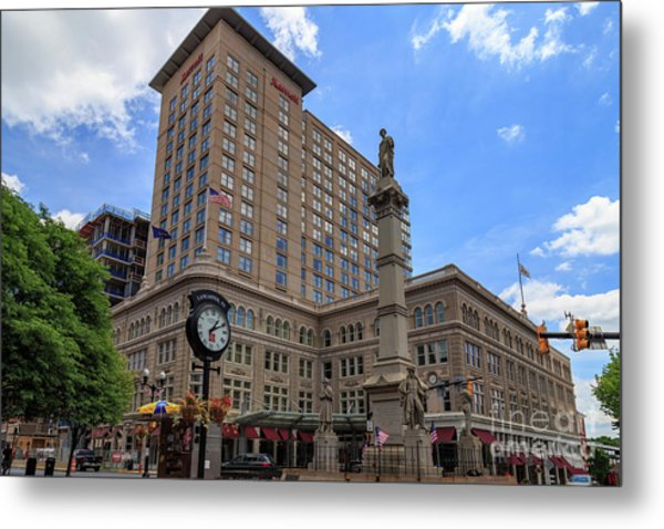 Soldiers Monument In Penn Square In Lancaster Pa Metal Print