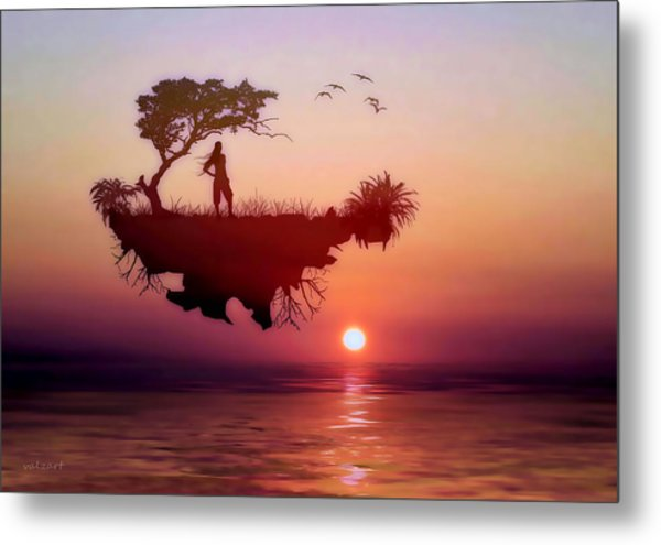 Metal Print featuring the mixed media Solitary Sister by Valerie Anne Kelly