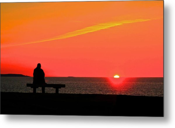 Solitude At Sunrise Metal Print