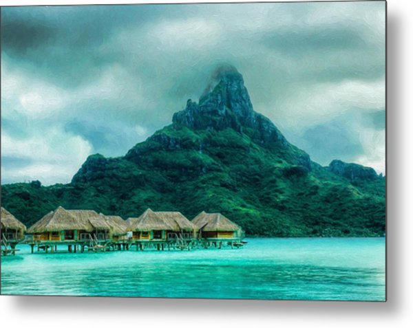 Solitude In Bora Bora Metal Print