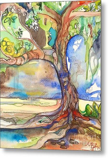 Solo Tree Metal Print by Maya Simonson